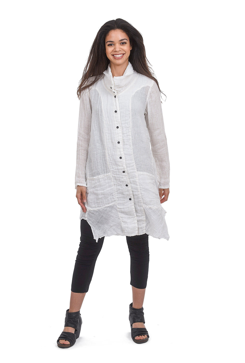 Cynthia Ashby Adore Tunic Jacket, White