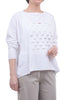 Planet Cut-Up Boxy Tee, White One Size White