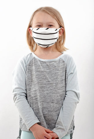 Coin1804 Kiddie Coin Face Mask, White Stripe