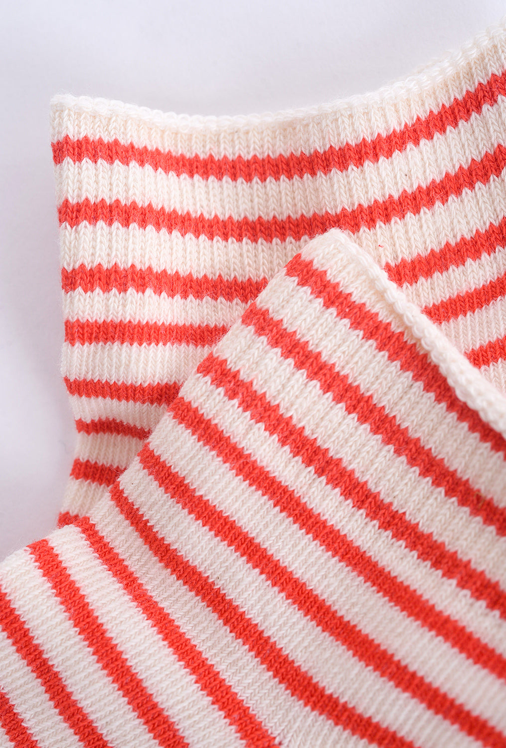 Little River Sock Mill Striped Bootie, Natural/Poppy One Size Natural