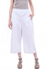 Baci Wide-Leg Chino Trousers, White