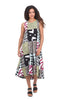 Bitte Kai Rand Patchwork Dress, Multi Magenta