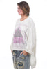 Magnolia Pearl Moonlight Sufi Pullover, Cream/Violet One Size Cream