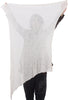 Umit Unal Mini Wool Gauze Scarf, Off-White One Size Off-White