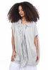 Rundholz Black Label Voile-Trim Bubble Tunic, White/Black Stripe
