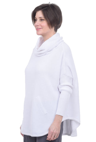 Planet Perfect Waffle Cowl, White One Size White