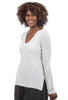 Margaret O'Leary Knits Cashmere Notch Tunic, Cloud