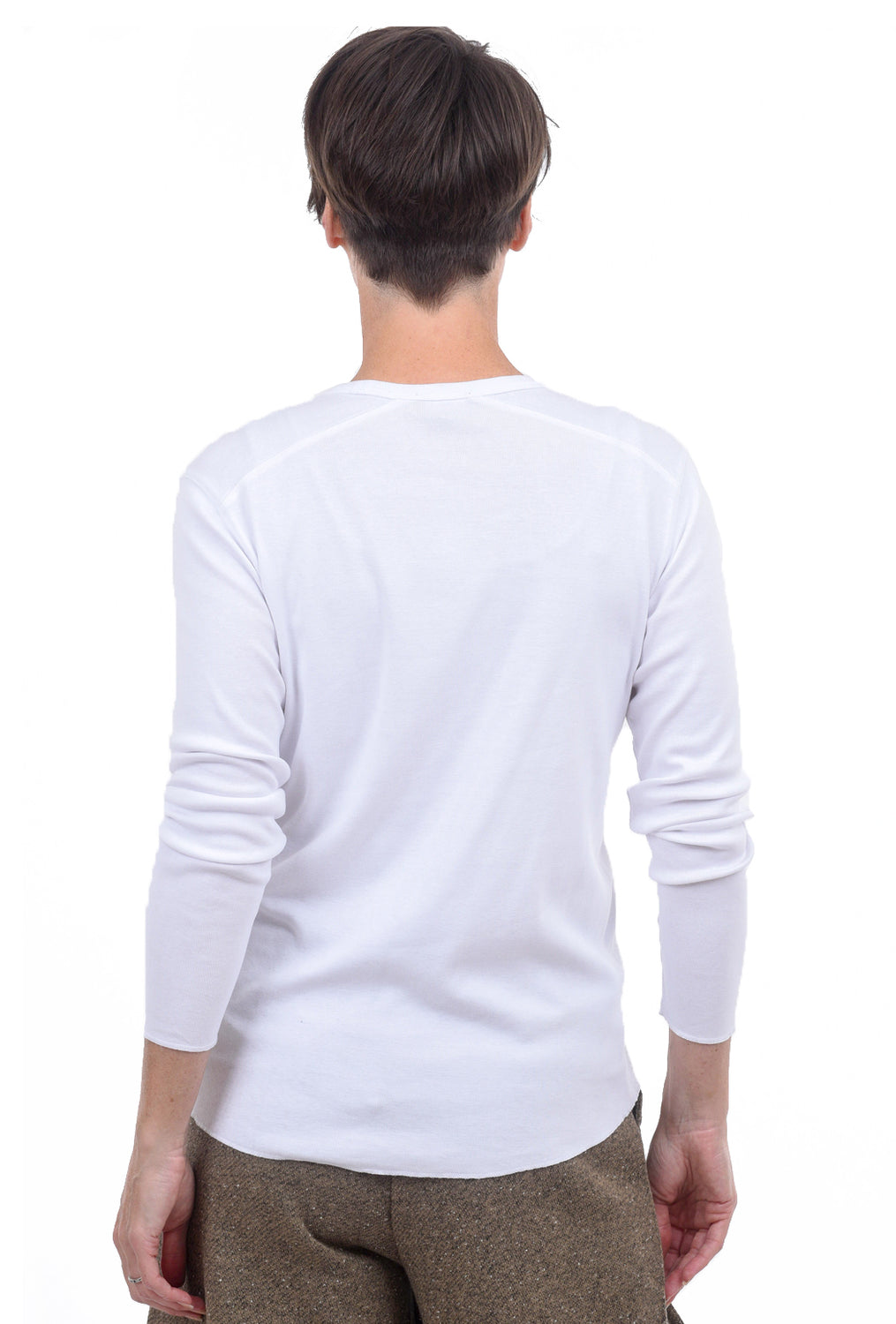 Lilla P Seamed Crewneck, White