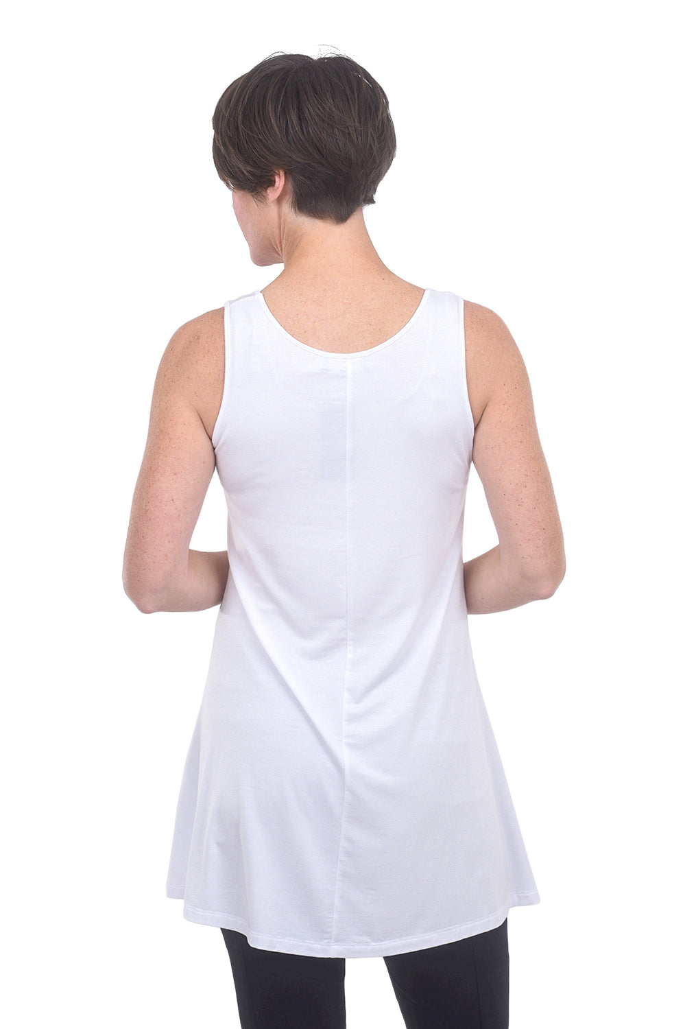 Comfy USA Modal Full Long Tank, White