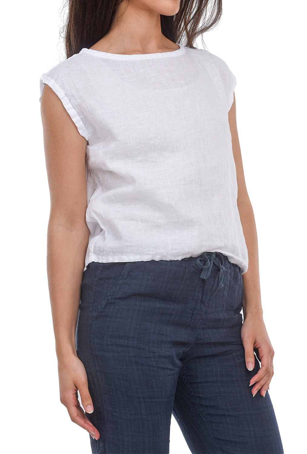 CP Shades Rowan Linen Top, White