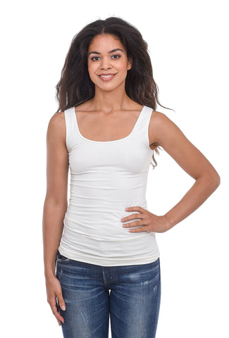 Tees by Tina Smooth Tank, Cream One Size Cream
