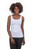 Tees by Tina Smooth Tank, White One Size White