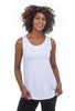 Comfy USA Comfy Basic Relaxed Tank, White