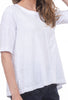 Wilt Elbow-Sleeve Trapeze Tee, New White