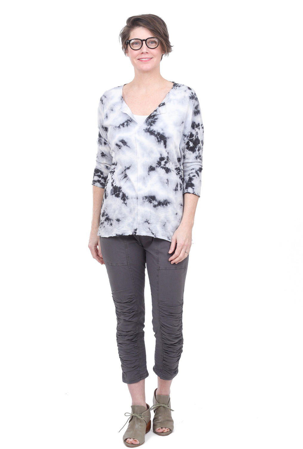 Wearables by XCVI Huron Tie-Dye Top, Freefall Blue
