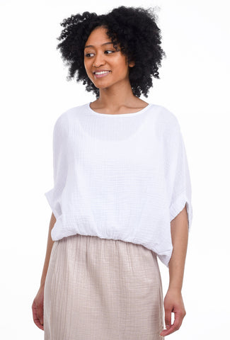 Stark x Full Body Elastic Top, White