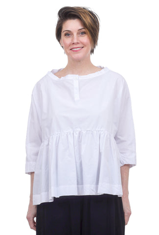 Amma Empire Woven Blouse, White