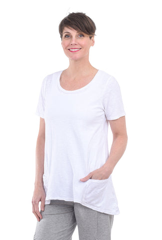 Cut Loose Pocket Swing Tee, White