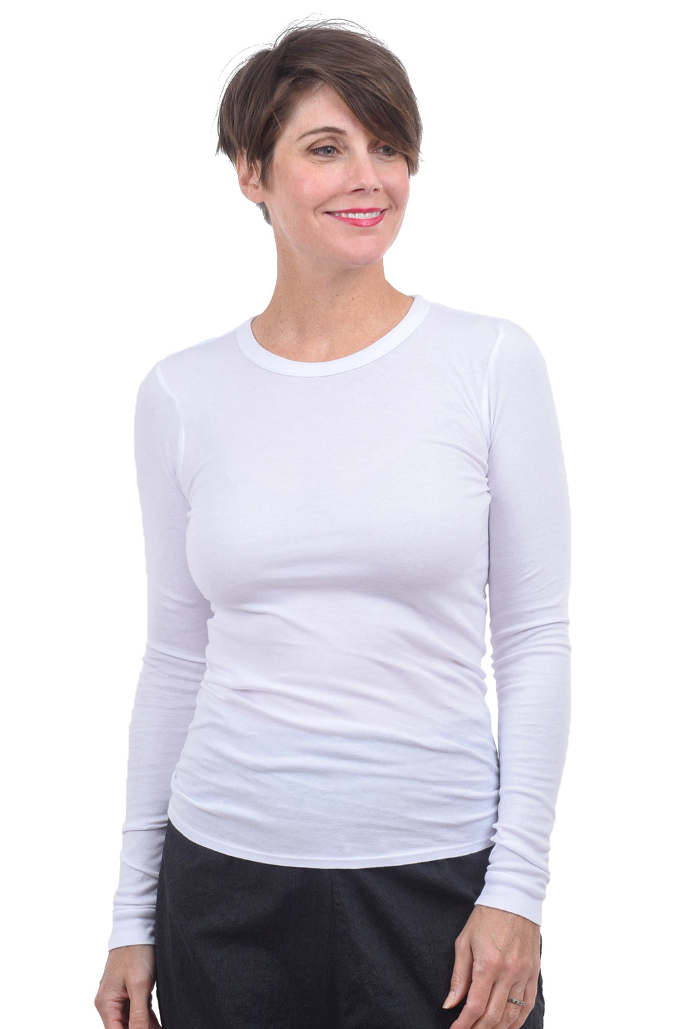 Enza Costa Supima Cotton T-Shirt, White