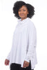 Planet Essential Swing Turtleneck, White One Size White
