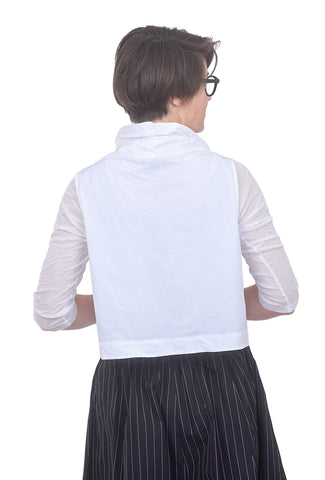 Sun Kim Wire Collar Vest, Whitest