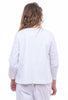 Baci Round Neck Jacket, White