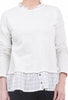 Hem & Thread Window-Print Two-Fer Sweatshirt, Stone