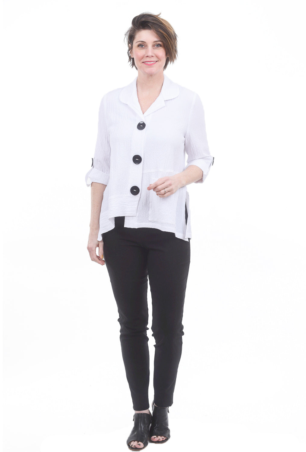 Moonlight Cathy Crepe Blouse, White