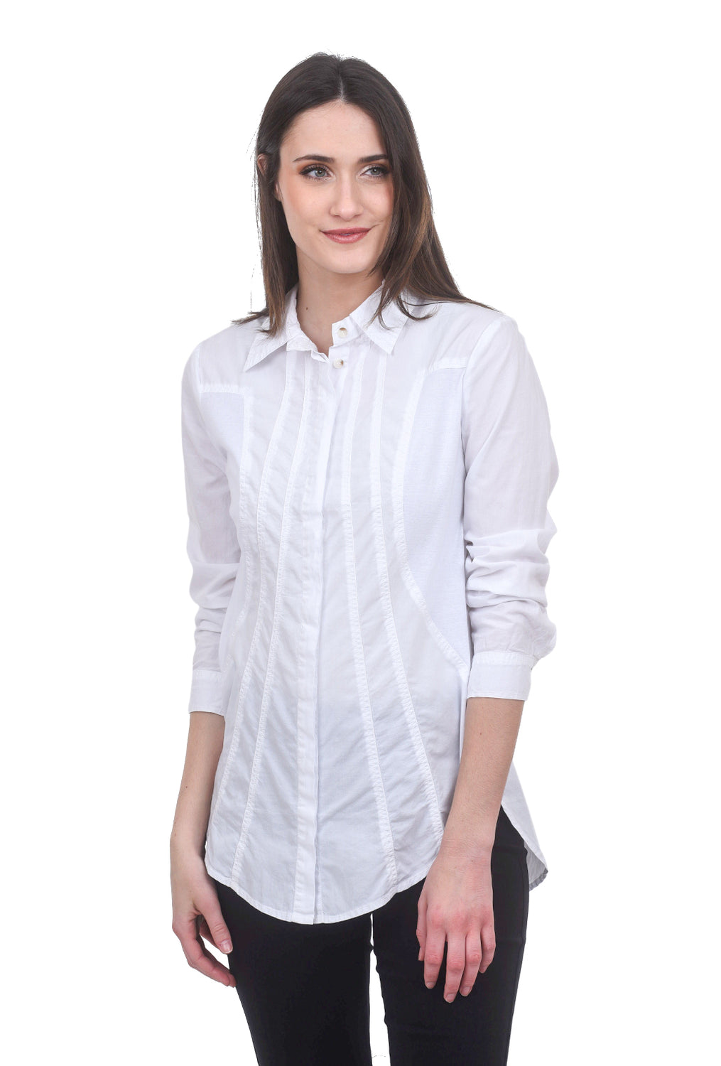 XCVI Ioan Button-Up, White
