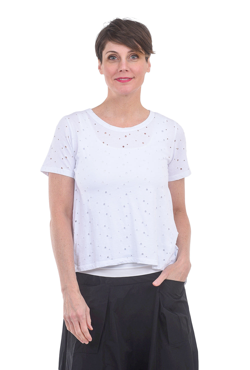 Baci Amici Destructed Tee, White