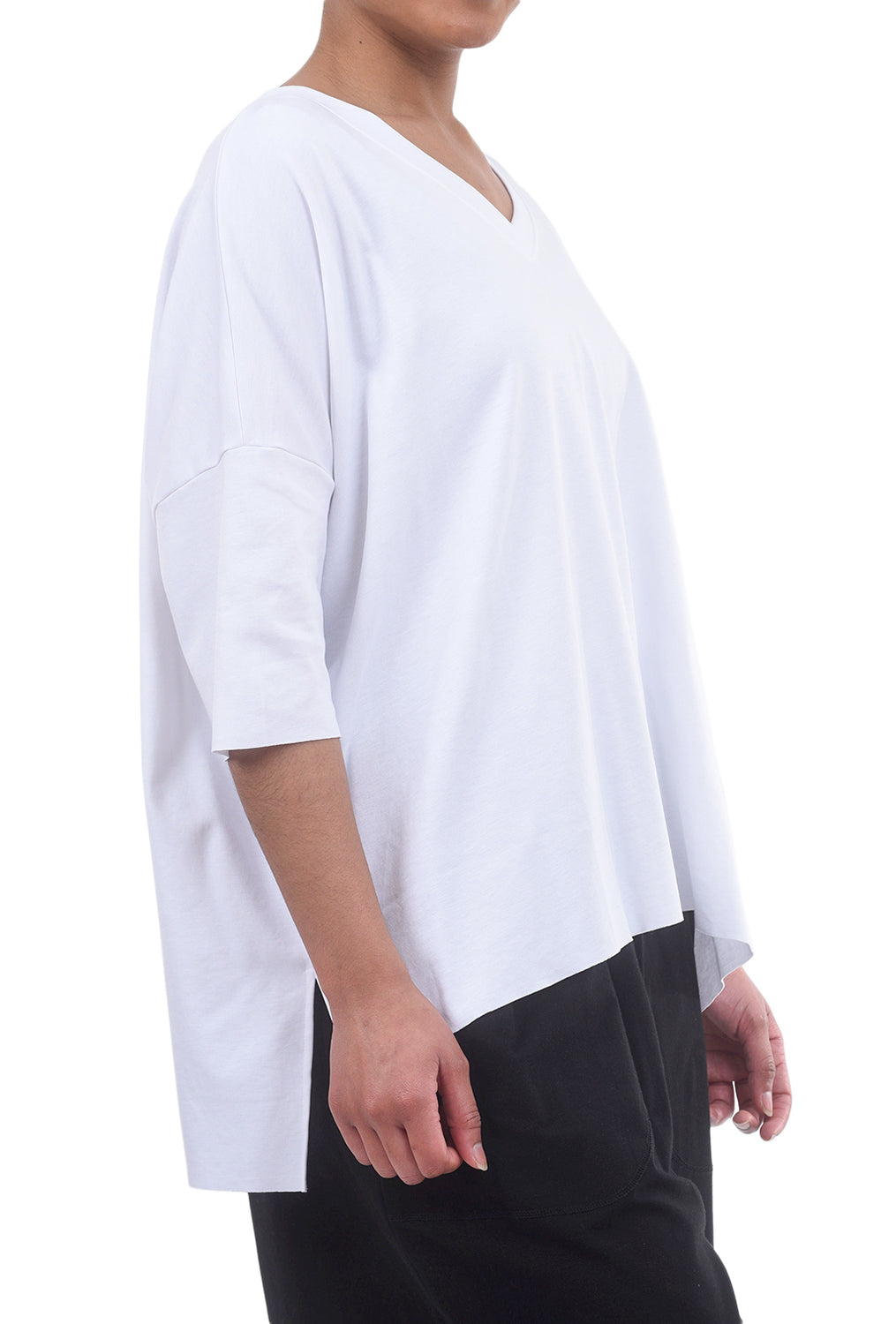 Planet S/S Vee Tee, White One Size White