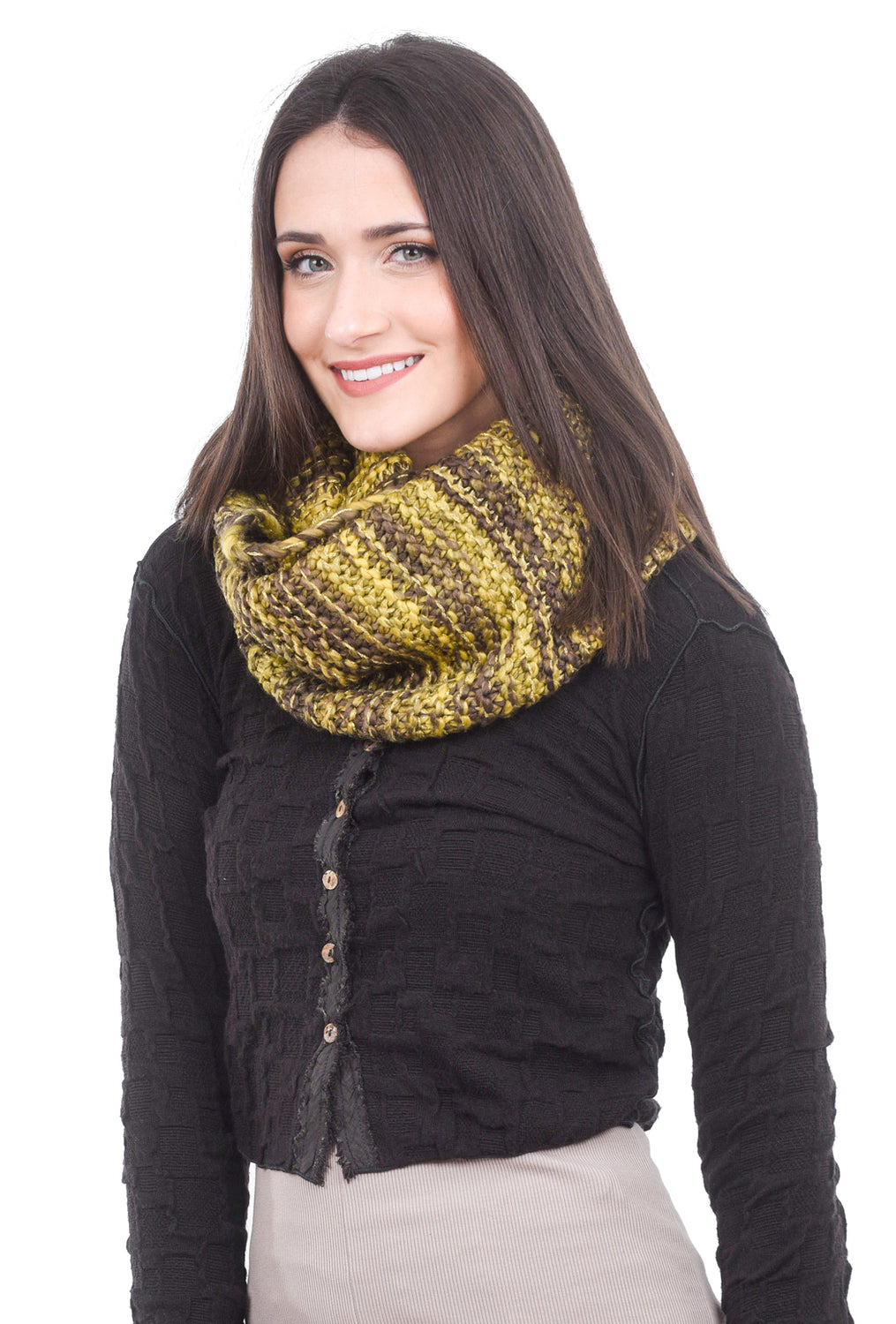 Numph Merel Tube Scarf, Seal Brown One Size Brown
