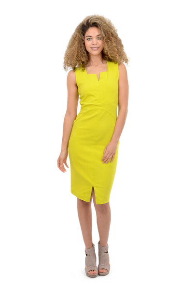 Porto Bellini Dress, Lemon Yellow