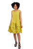 Sun Kim Crushed Nylon Jumper, Chartreuse