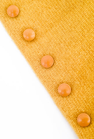 Santacana Madrid Long Button Cashmere Gloves, Yellow One Size Yellow