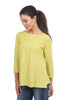 Cut Loose LJ Peplum Tee, Sour Apple