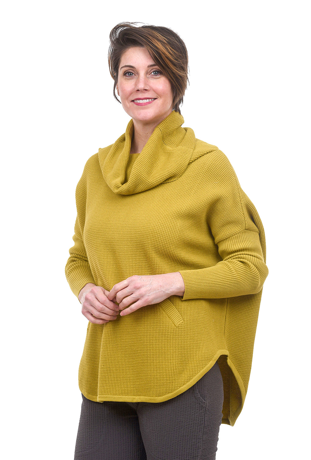 Planet Perfect Waffle Cowl, Chartreuse One Size Chartreuse