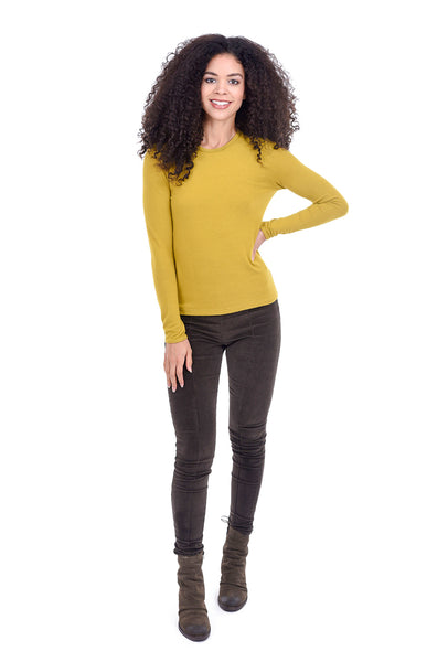 Cut Loose Thermal V-Neck Tee, Caramel
