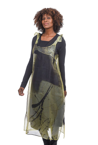 Luukaa Vanessa Semi-Sheer Tunic, Lime Green