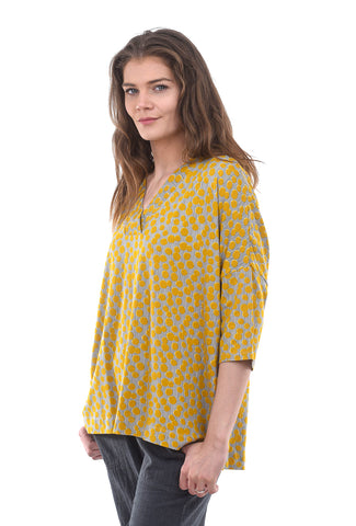 Two Danes Bluebell Bloom Bamboo Top, Honey