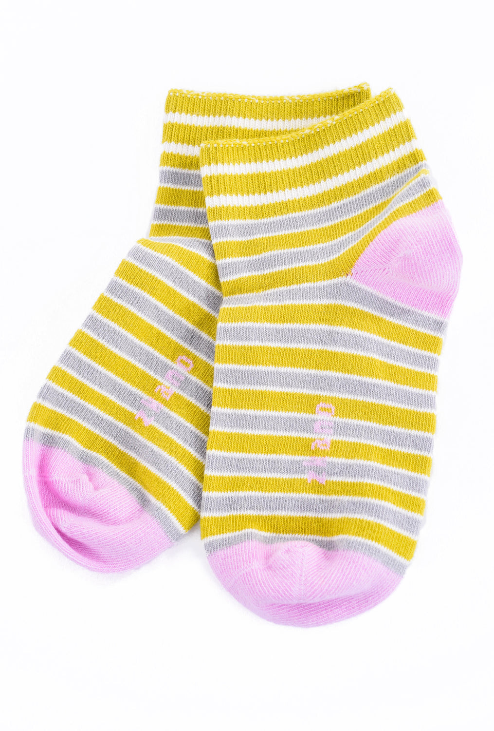 Little River Sock Mill Rosie Striped Bootie, Citron