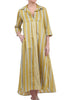 Alembika Mellow Stripes Shirtdress, Amber Yellow