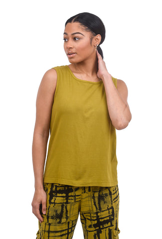 Fenini Cotton Basic Tank, Mustard