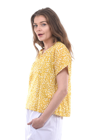 Two Danes Rena Floral Voile Top, Honey