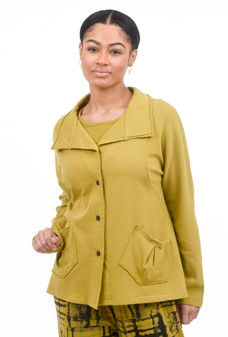 Fenini Fleece Pocket Jacket, Mustard