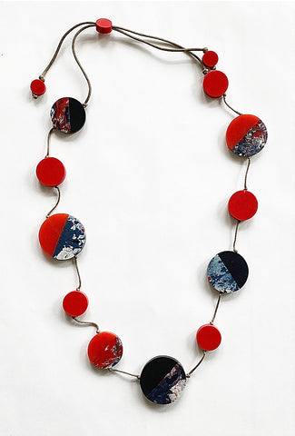 Sylca Designs Athena Necklace, Navy