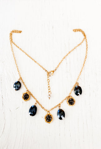 Michelle Pressler MP Coated Onyx/Pyrite Necklace