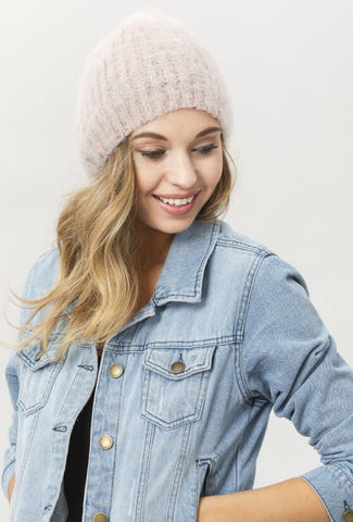 Babymoh! Mohair Date Night Beanie, Dove