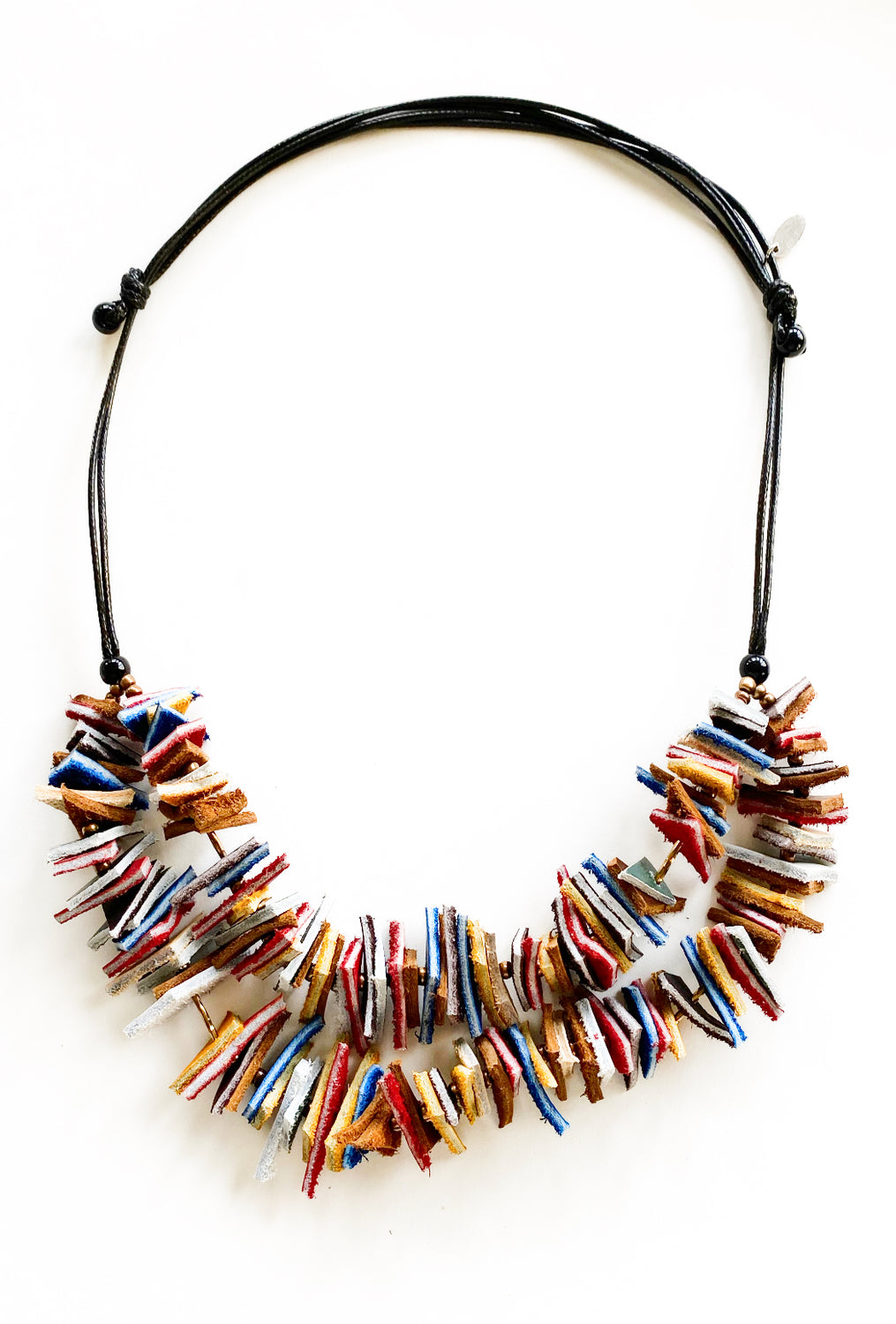 Sylca Designs Double Kendra Necklace, Blue/Red
