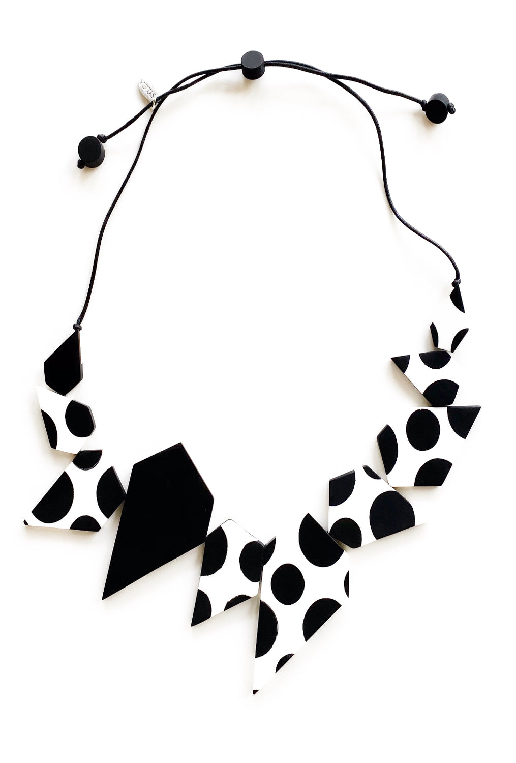 Sylca Designs Lexi Necklace, Black/White